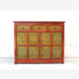 China large dresser sideboard brightly painted Tibet 1925 Antik