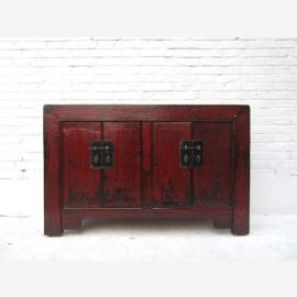 China compact classic dresser sideboard double doors with metal fittings reddish brown pine of Luxury Park