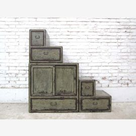 China steps stairs drawers dresser shabby chic white gray used on both sides of Luxury Park