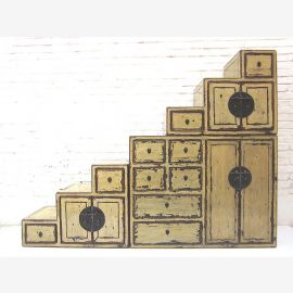 """China Stairs Chest Shabby chic many drawers on both sides openable under slopes by """"Luxury-Park"""""""