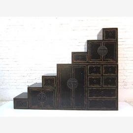 """China large Stairs Chest Finish Black shabby chic drawers on both sides openable many by """"Luxury-Park"""""""