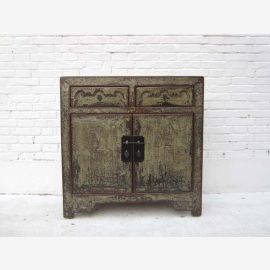 China compact sideboard table wardrobe shabby chic grunge gray pine with traces of Luxury Park