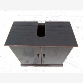 China small dresser vanity unit in black painted pine wood classics by Luxury Park