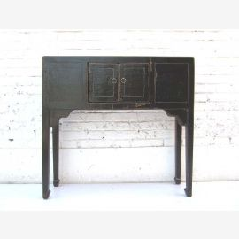 """China 1930 narrow table desk dresser pine wood painted black shabby chic optic by """"Luxury-Park"""""""