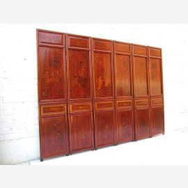 6 Panel Asia Partition antique gift 200x146x5