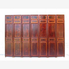 Asia Screen real wood antique 198w x5x140cm
