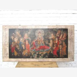 Asia wide mural bright frame pine Beijing about 80 years old