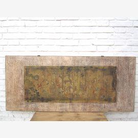 Asia wide mural brown frame Beijing 85 years old pine tree