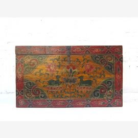 China Tibet Box Chest 100 years classic colorful painting
