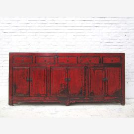 China classic wide chest by drawers sideboard brown traces many double doors and drawers by Luxury Park