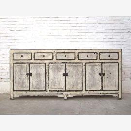China dresser drawers sideboard antique white used optics