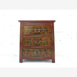 China sideboard dresser drawers Floral painted 90 years