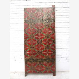 China Tibet narrow statue brightly painted room divider