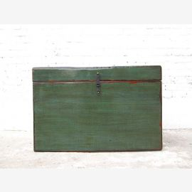 """China Mongolia 1900 chest dark green painted pine with traces by """"Luxury-Park"""""""