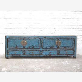 Asia TV Lowboard dresser vintage azure Shabby chic