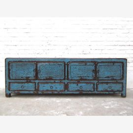 China TV Lowboard Chest heavy used vintage appearance in Blue