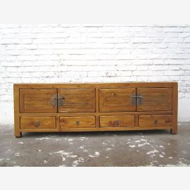 Asia Lowboard TV Chest Tan Vintage Style