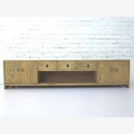 """China ultra flat wide sideboard Sideboard for TV Flatscreen double doors and drawers bright pine country style by """"Luxury-Park"""""""