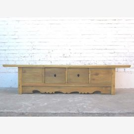 China Lowboard TV dresser natural wood colored cottage style