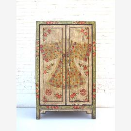 "China country-style individual semi-high cabinet Cabinet noble pine wood brass fitting by ""Luxury-Park"""