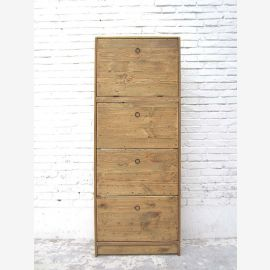 """China great shoe cabinet hellgebeiztes pine wood four large compartments Country Style by """"Luxury-Park"""""""