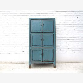 Asia highboard dresser Azure vintage style solid wood by Luxury Park