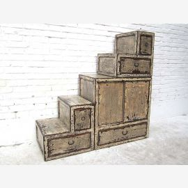 """China small steps stairs dresser drawers cream white many on both sides openable """"Luxury-Park"""""""