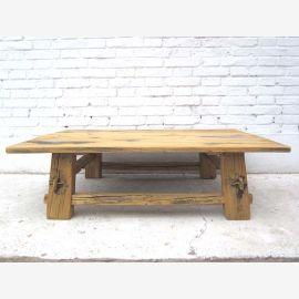 Asia flat rustic pine table natural wood