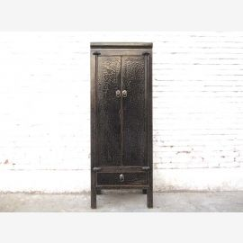 Asia narrower cabinet drawers highboard antique black