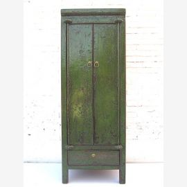 "China slim half-high dark green cabinet very British antique look with drawer in the base by ""Luxury-Park"""