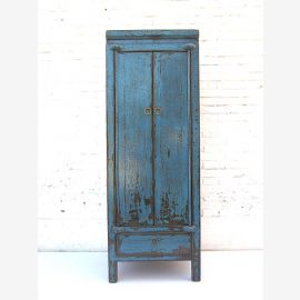 "China shabby chic slim half-high azure cabinet shabby traces with base drawer by ""Luxury-Park"""