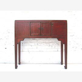 "China wardrobe sideboard table classic colonial style with red-brown paint scuffs from ""Luxury-Park"""