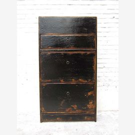 Central China shoe cabinet black lacquer three compartments lateral thrusts heavy used Shabby chic by Luxury-Park