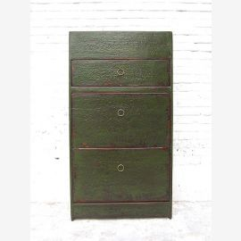 """Mean Shoe cabinet antique green paint shabby chic look 3 compartments and lateral thrusts by China Bestsellers from """"Luxury-Park"""""""