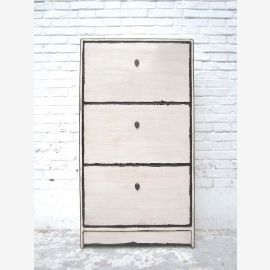 "Half-height shoe cabinet white paint shabby chic look three large compartments by China Bestsellers from ""Luxury-Park"""