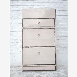 """Central China shoe cabinet white lacquer three large compartments lateral thrusts Shabby chic look by """"Luxury-Park"""""""