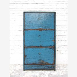 """Half-height shoe cabinet painting Azur blue shabby chic three large compartments by the bestseller from China by """"Luxury-Park"""""""