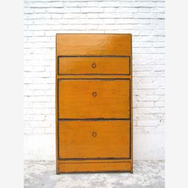 """Half-height shoe cabinet mandarin orange paint three wide drawers lateral thrusts used look by """"Luxury-Park"""""""