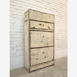 China hallway dresser drawers Shoe cabinet shabby chic antique white pine