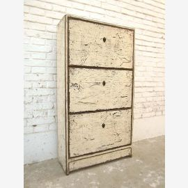 Asia drawers Shoe cabinet vintagestyle antique white pine