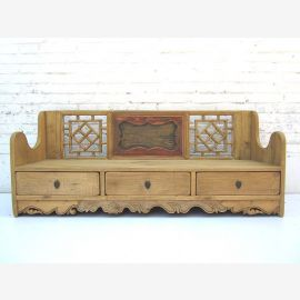 """China 1900 bench cottage style three pedestal drawers Schnitzdekore Spruce by """"Luxury-Park"""""""
