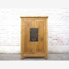 China sideboard dresser striking metal fitting wood brown cottage