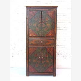 """China before 1920 noble semi-high cabinet cabinet two double doors in the classic brown-red painted pine by """"Luxury-Park"""""""