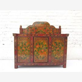 """China Tibet Shanxi ca 1930 small dresser dressing table with decorative paper brown-red painted pine wood from """"Luxury-Park"""""""