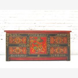 """China Tibet about 1,940 small sideboard chest by drawers pine in traditional painting filigree motifs by """"Luxury-Park"""""""