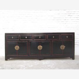 China large sideboard dresser antique black brass pine