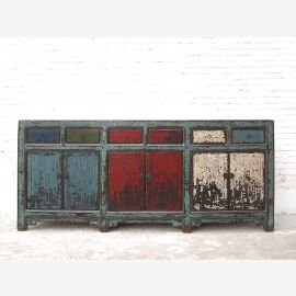 China wide sideboard colorful crazy fronts on pine shabby chic