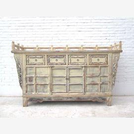 Shanxi 1760 broad altar cabinet rarity chalk white elm