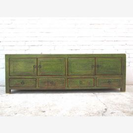 Asia TV Lowboard antique green shabby chic optic 140x38x45cm