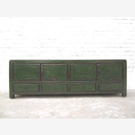 Antique green Asia TV Lowboard Chest Vintage style